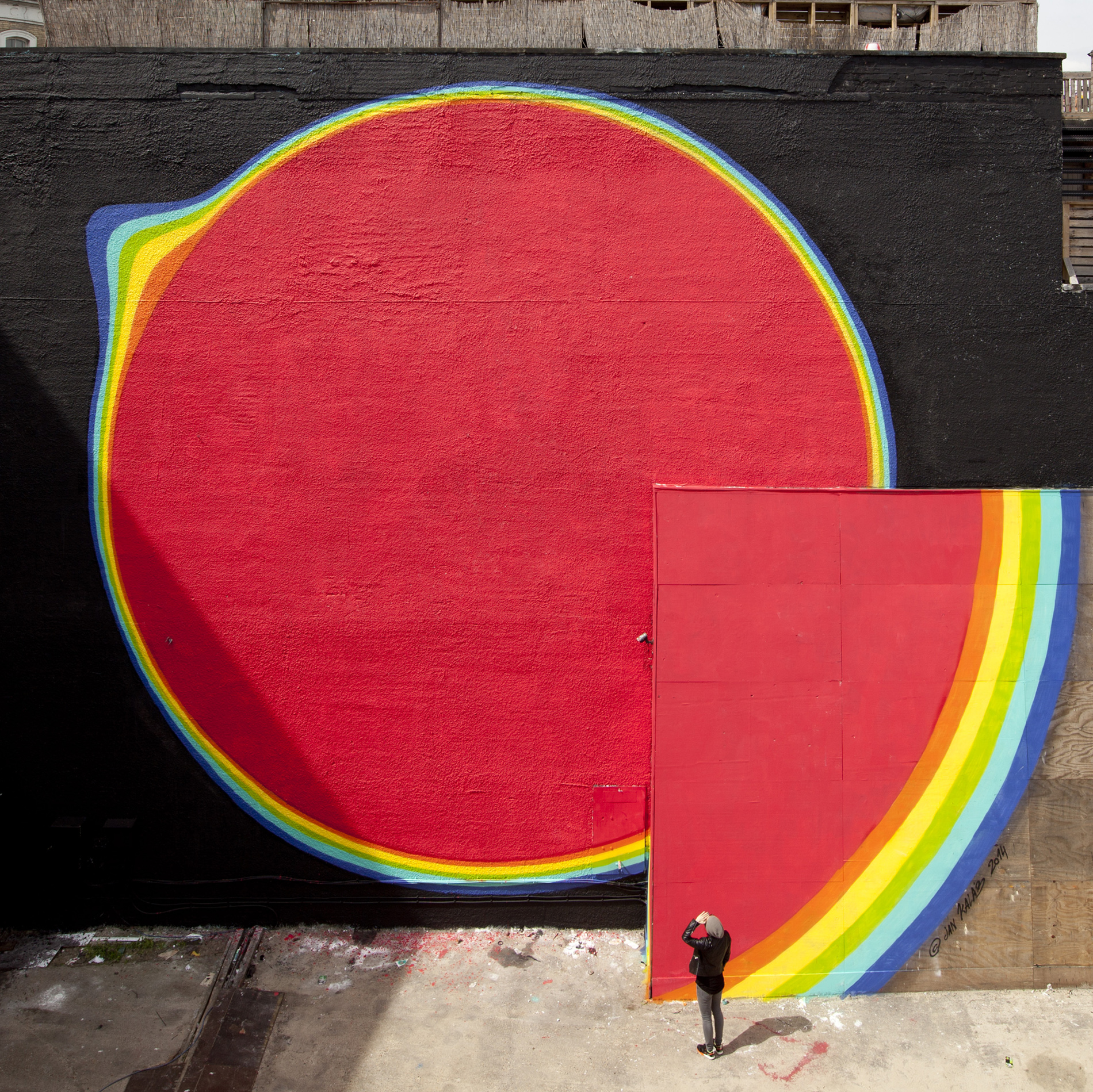 Jan Kaláb - Red circle Mural